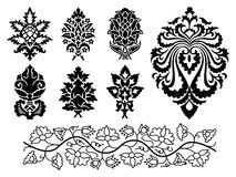 Vector floral ornament set Royalty Free Stock Photos