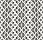 Vector Floral Ornamental Seamless Pattern. Geometric Flower Stylish Texture. Abstract Retro Tile Texture. Classic Art Deco Seamless Pattern. Geometric Stylish royalty free illustration