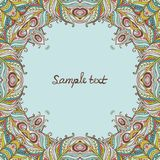 Vector floral ornate frame with many details Royalty Free Stock Photo