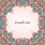 Vector floral ornate frame with many details Royalty Free Stock Photography