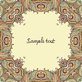 Vector floral ornate frame with many details Royalty Free Stock Photos