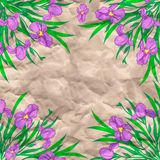 Vector floral and paper background Royalty Free Stock Image