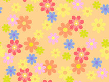 Vector floral pattern. Vector seamless multi-colored floral pattern Royalty Free Stock Image