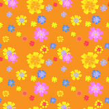Vector floral pattern. Vector seamless multi-colored floral pattern Stock Image