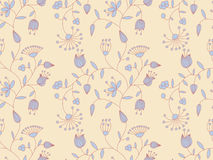 Vector floral pattern. Vector pastel seamless background with floral pattern Royalty Free Stock Photo