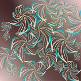 Vector floral  pattern Royalty Free Stock Photography