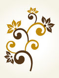 Vector floral pattern with background Royalty Free Stock Photo