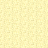 Vector floral pattern on a beige background. Royalty Free Stock Image