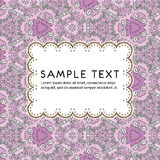 Vector floral pattern card Royalty Free Stock Photos