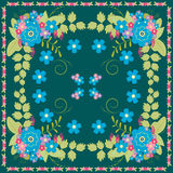 Vector floral pattern for cushion, pillow, bandanna or shawl Stock Images