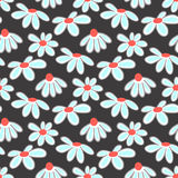 Vector floral pattern with cute daisies. Stock Images