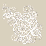 Vector floral pattern element, indian ornament Royalty Free Stock Photos