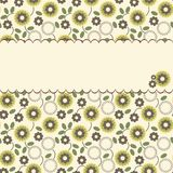 Vector floral pattern with a frame Royalty Free Stock Images