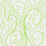 Vector floral pattern with green curled lines and spirals Royalty Free Stock Photos