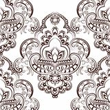 Vector floral pattern in Indian style Stock Photo