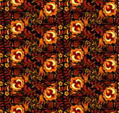 Vector floral pattern in Russian hohloma style Stock Photo