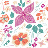 Vector Floral Pattern Stock Photo