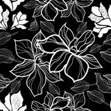 Vector floral pattern. Seamless vector floral pattern with roses (From my big Seamless collection Royalty Free Stock Images