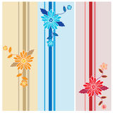 Vector floral pattern set  Stock Photo