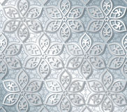 Vector floral pattern on silver background Royalty Free Stock Image