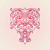 Vector floral pattern in Victorian style. Stock Photography