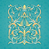 Vector floral pattern in Victorian style. Royalty Free Stock Image