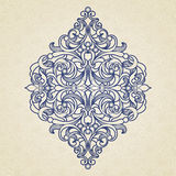 Vector floral pattern in Victorian style. Stock Image