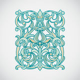 Vector floral pattern in Victorian style. Royalty Free Stock Photo