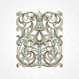 Vector floral pattern in Victorian style. Royalty Free Stock Images