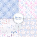 Vector Floral Patterns Set Royalty Free Stock Image