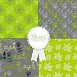 Vector Floral Patterns Set Royalty Free Stock Photo