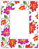 Vector floral photo frame Stock Photo