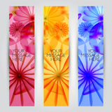 Vector floral and plant  banners set Royalty Free Stock Photography