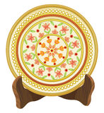 Vector of floral porcelain plate. Royalty Free Stock Images