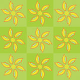 Vector floral poster paint. Vector illustration of floral background simulating poster paint Royalty Free Stock Image