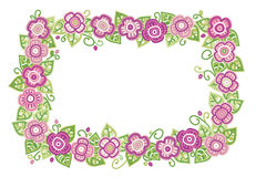 Vector floral rectangle frame. Royalty Free Stock Photo