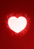 Vector floral red heart frame Royalty Free Stock Photography