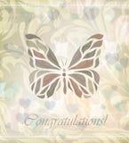Vector floral retro de la mariposa