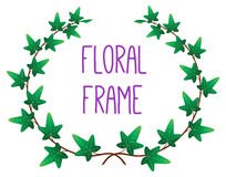 Vector floral round frame Stock Photography