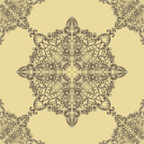 Vector floral round pattern element in Eastern style Stock Photography