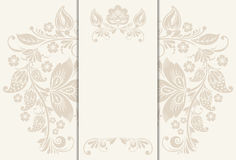 Vector floral rustic wedding cards, beautiful Royalty Free Stock Photo