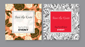 Vector floral Save the Date Royalty Free Stock Photo