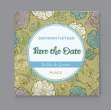 Vector floral Save the Date Stock Images