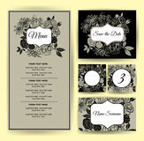 Vector floral Save the Date Stock Photos