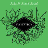 Vector floral Save the Date Royalty Free Stock Photography