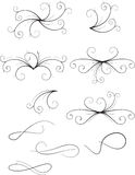 Vector floral scroll ornament. Vector floral and scroll black ornament Royalty Free Stock Photo