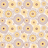 Vector Floral seamless colored pattern, decorative ornament, vector design Royalty Free Stock Photography