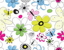Vector floral seamless pattern vector illustration
