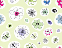 Vector floral seamless pattern Stock Image