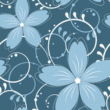 Vector floral seamless pattern Stock Photo